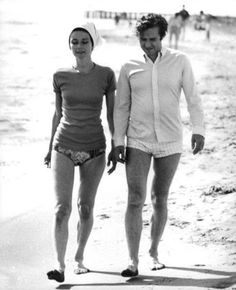 The Fashion of Audrey — Audrey Hepburn Dotti photographed with her husband...