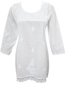 Women's Tunic Blouse White Casual Embroidered Crochet Lac... https://www.amazon.ca/dp/B01LHDPUZ8/ref=cm_sw_r_pi_dp_x_nY09xbMT21Y5E