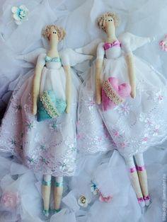 Купить Нежный Тильда ангел - белый, белый ангел, кукла Тильда, тильда ангел