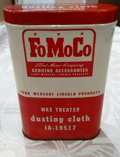 Vintage 1950 FOMOCO Ford Motor Company Advertising Tin Automobile Dusting Cloth | Collectibles, Advertising, Automobiles | eBay!