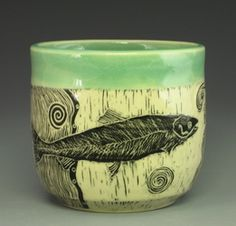 Images from the Woodcut Series of ceramic artist Patricia Griffin