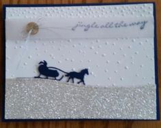 Jingle all The Way stamp set, Sleigh Ride Edgelit Die (Bundle Set available) and Softly Falling Texture Embossing Folder