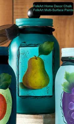 How to Easily Paint a Pear with FolkArt Multi-Surface Paints... Priscilla Hauser Shows Us How!