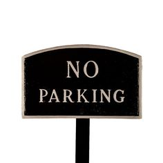 Montague Metal Products SP8smBSLS Small Black and Silver No Parking Arch Statement Plaque with 23Inch Lawn Stake * Check out this great product.