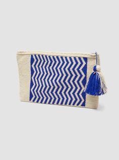Zig Zag wayuu clutch By Guanábana handmade