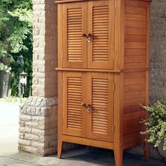 Have to have it. Home Styles Montego Bay Four Door Multi-Purpose Storage Cabinet - $698 @hayneedle
