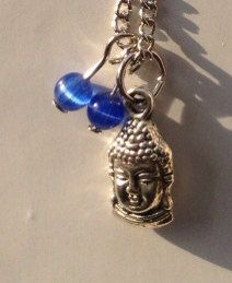 14 Inch Necklace with Buddha Charm and Blue by TarasExpressions, $14.00