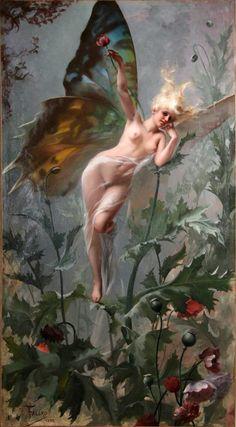 La femme papillon 1888  Luis Ricardo Falero