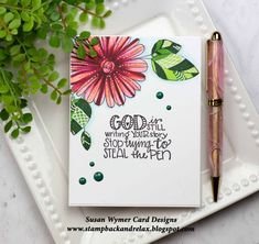 Daisies Giving a Pen Impression Obsession Cards, Knowing God, Summer Flowers, Giving, I Card, Daisy, Encouragement, Card Designs