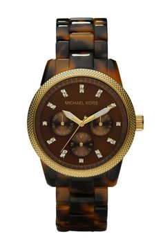 a michael kors oversized tortoise watch! i am infatuated with anything tortoise!
