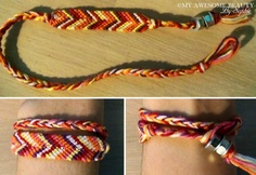 How to begin and end a friendship bracelet