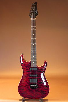 Suhr Carve Top Standard Quilt Maple Top Chili Pepper Red Scraped Binding 2010