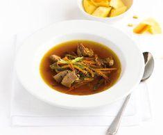Pečený vývar | Recepty Albert Soup, Beef, Cooking, Ethnic Recipes, Meat, Kitchen, Soups, Brewing, Cuisine