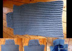 Lekker warme deken met voetenwarmer ! # Engelse Patentsteek # Breien.