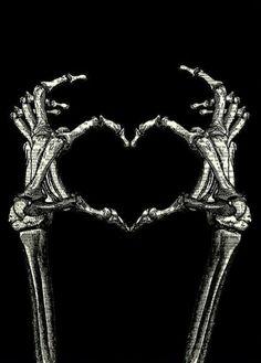 Skeleton Love, Skeleton Art, Skeleton Hands, Hand Wallpaper, Black Background Wallpaper, Black Backgrounds, Heart Poster, Cute Wallpapers, Iphone Wallpapers