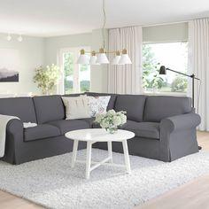 Ikea Ektorp, Laminated Veneer Lumber, Deep Seat Cushions, Ikea Family, Corner Sofa, Fabric Sofa, Love Seat, Lounge, Design