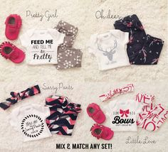 ORIGINAL Mix & Match Baby Leggings and shirt set, trendy baby clothes, trendy leggings, baby outfit sets, trendy girl clothes, clothing sets