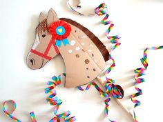 Diy For Kids, Crafts For Kids, Arts And Crafts, Paper Crafts, Happy Birthday Girls, Baby Birthday, Wild West Party, Horse Party, Horse Crafts