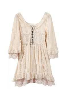 .Lace clothing and shabby chic