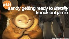 little RotG things: Sandy getting ready to LITERALLY knock out Jamie