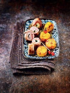Saltimbocca de veau à la mozzarella, galettes de polenta croustillante