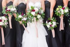 In a world of blush bridesmaids dresses, Caroline chose black and I love her for it! This one choice made such a chic statement throughout her wedding day! Wedding Color Schemes, Wedding Colors, Blush Bridesmaid Dresses, Wedding Dresses, Washington Dc Wedding, Union Station, Dc Weddings, Wedding Pictures, Wedding Day