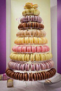 A pyramid of macarons