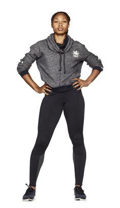 Sprinter Allyson Felix in a customized USATF Stanton Hoodie. #teamnike #athlete
