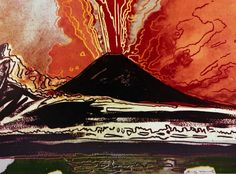 Andy Warhol, Vesuvius (nero), Collezione Intesa Sanpaolo © The Andy Warhol Foundation for the Visual Arts Inc. by SIAE 2017 Andy Warhol Pop Art, Famous Places, Pompeii, Natural Disasters, American Artists, Landscape Paintings, Landscapes, Printmaking, Art Projects