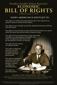 Poster - Franklin Delano Roosevelt's Economic Bill Of Rights | Syracuse Cultural Workers