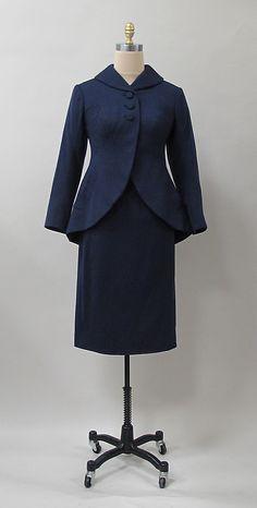 Suit Charles James (American, born Great Britain, 1906–1978) Date: 1950s Culture: American Medium: wool
