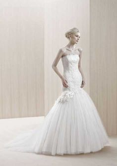 """""""Emporia"""" by Blue by Enzoani  Lace and tulle trumpet  at New York Bride & Groom (Charlotte)"""