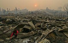 Massive Wildfire in Chile Kills Ten Destroys Entire Town (PHOTOS)