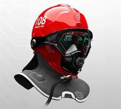 Futuristic Look. The C-Thru Smoke Diving Helmet designed by Omer Haciomeroglu enables firefighters to see through smoke.