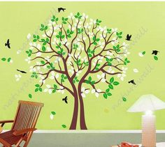 Vinyl wall decals tree decals wall stickers baby by walldecals001