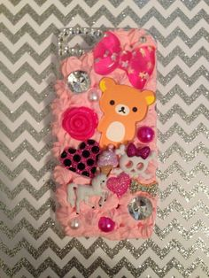 Hey, I found this really awesome Etsy listing at https://www.etsy.com/listing/221526850/handmade-rilakkuma-iphone-55s-decoden