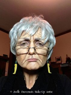 Old age with wig.