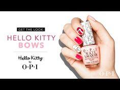 (2) Hello Kitty by OPI - Hello Kitty Bows Nail Art Tutorial - YouTube