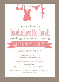 Bachelorette Party Invitation Printable File by camaddisondesigns