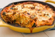 Fact: This is the easiest lasagna you will ever make. Get the recipe from Delish.   - Delish.com