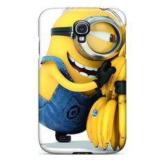 Shock-Absorbing Hard Cell-phone Cases For Samsung Galaxy S4 (IPA125JDzm) Allow Personal Design Attractive Minion Pictures