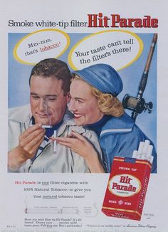 cigarette Hit Parade advertising