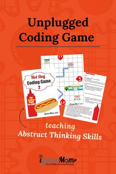 Unplugged coding game for beginner kids to learn critical thinking skills. off-screen STEM activity for boys and girls learn important abstract skill for coding. No computer needed. Middle School Activities, Science Activities For Kids, Steam Activities, Coding Games For Beginners, Coding For Kids, Creative Teaching, Teaching Tips, Learning Resources, Science Fair