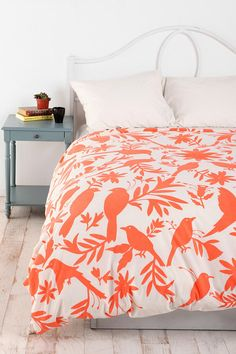 Urban Outfitters Duvet Cover.  It's got birds AND orange... so perfect for me!