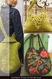 Image result for pinterest felted bags