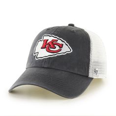 bd6ffaa9584bb5 Kansas City Chiefs Blue Hill 47 Closer One Size Stretch Fit Hat by '47 Brand