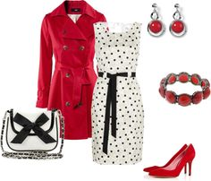 """""""Polka Dots"""" by lislyn on Polyvore"""