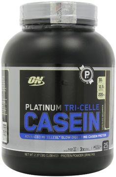 Optimum Nutrition Platinum Tri-Celle Casein, Chocolate Decadence, 2.37 Pound - http://www.gainmusclefastnow.com/optimum-nutrition-platinum-tri-celle-casein-chocolate-decadence-2-37-pound/