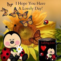 Blessings of love, peace and happiness today. Love Good Morning Quotes, Good Morning Coffee, Good Morning Gif, Ladybug Quotes, Special Friend Quotes, Bee Quotes, Happy Friday Quotes, Cartoon Bee, Fb Quote