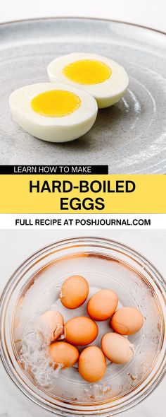 Cooking hard-boiled eggs at home isn't as complicated as you think. You can cook the hard-boiled eggs on the stove and in an air fryer. It's the basic cooking skills every home cooking should know about. #howto #recipe #egg Basic Cooking, Cooking Time, Peeling Boiled Eggs, Cooking Hard Boiled Eggs, Perfect Hard Boiled Eggs, Tasty, Yummy Food, Whole Eggs, Stove